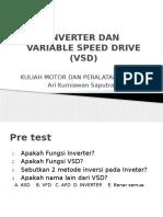 Variable Speed Drive (Vsd) Dan Inverter