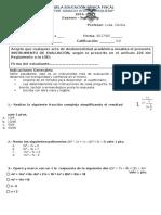 Examen Supletorio II Matematicas Noveno