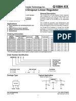 Regulador de Voltaje Lineal 3.3v G1084-33