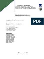 Lineas de Investigación Departamento de  Artes y Tecnología Educativa 2015