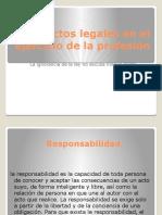 TEMA 3.3 -Aspecteos Legales en El Ejercicio de La Profesión