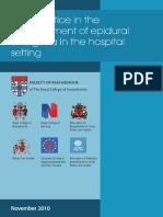 Pub Prof EpiduralAnalgesia2010