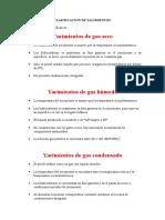 Clasificacion de Yacimientos - Produccion
