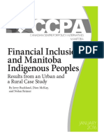 Financial Inclusion and Manitoba Indigenous Indigenous People.