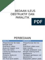 Perbedaan Ileus Obstruktif Dan Paralitik