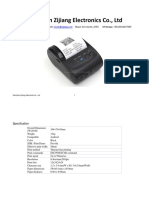Pos 5802 Specification