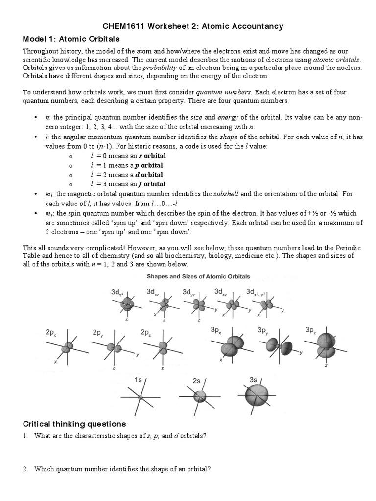 worksheet Atomic Orbitals Worksheet ws2 electron configuration atomic orbital