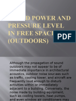 Sound Power and Pressure Level