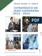 Plan de Seguridad Ciudadana Del Distrito de Atavillos 2013