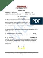 CE6351 Fluid Mechanics