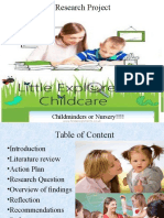 Research Project on Childminders