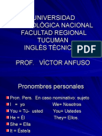 Ingles - Pronombres- Verb Tobe