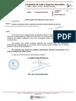 clasificados directos cpto  espana cadete e infantil 2017