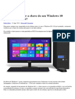 Como Saber a Chave Do Seu Windows 10 Gravada Na BIOS