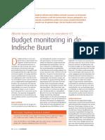 Mellouki Cadat, Budget Monitoring in de Indische Buurt Cadat, Sociaal Bestek, juni/juli 2012