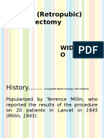 Millin's (Retropubic) Prostatectomy DIN
