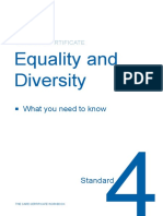 Standard 4 - Equality and Diversity Workbook