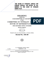 HOUSE HEARING, 105TH CONGRESS - OPERATIONS OF THE BOARD OF VETERANS' APPEALS AND COURT OF VETERANS APPEALS, AND REVIEW OF H.R. 3212, WITH RESPECT TO THE COURT OF VETERANS APPEALS RETIREMENT PLAN