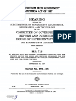 HOUSE HEARING, 105TH CONGRESS - H.R. 716, FREEDOM FROM GOVERNMENT COMPETITION ACT OF 1997