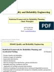 2 Statistical Framework for Reliability Planning-- Basic Principles -- VER 2017