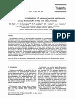 Talanta Volume 42 Issue 12 1995 [Doi 10.1016%2F0039-9140%2895%2901640-6] M. Rizk; Y. El-Shabrawy; N.a. Zakhari; S.S. Toubar; L.a. Carreir -- Fluorimetric Determination of Aminoglycoside Antibiotics Us