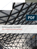 PART 1 Empowering MSSP Real World Customer Needs