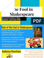 the fool in shakespeare