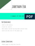 elizabethan era  1