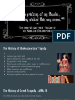 greek and shakespearean tragedy