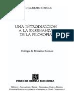 UNA INTRODUCCIÒN A LA ENSEÑANZA DE LA FILOSOFÌA - Guillermo Obiols - (2002).pdf