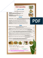 Thai Chef Noodle Fusion Menu