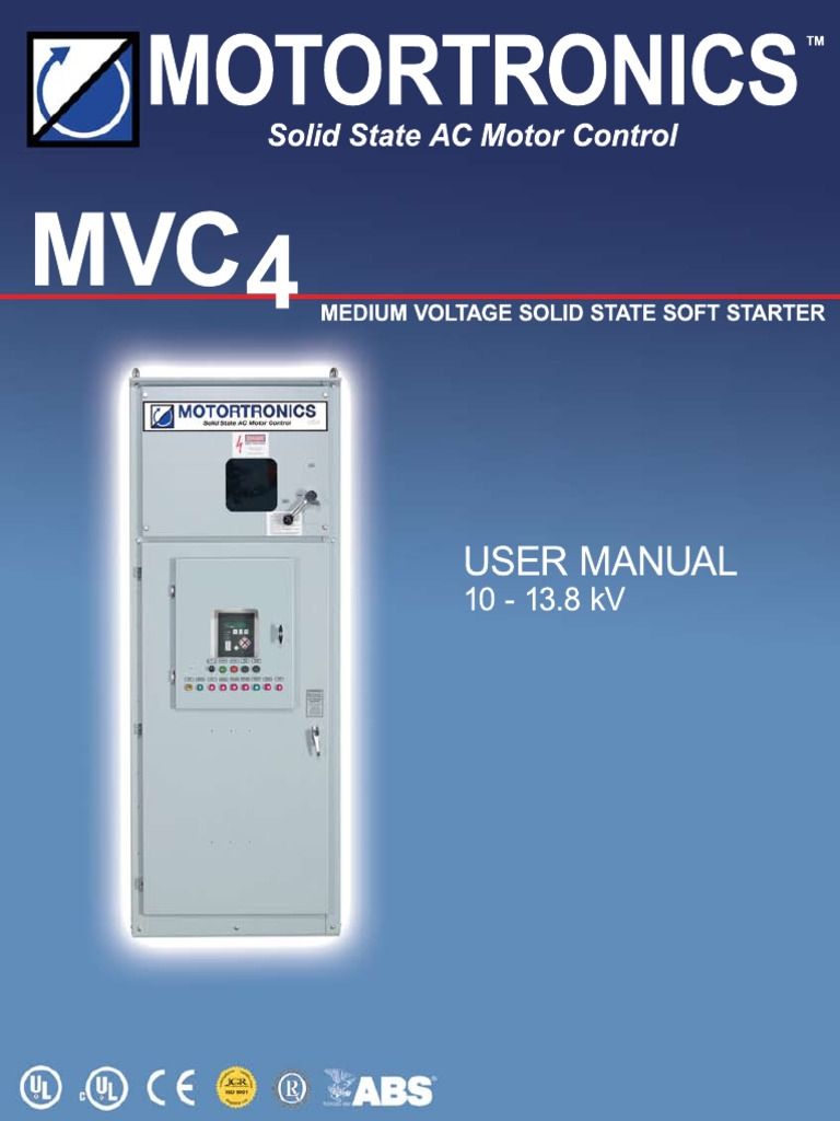 MVC4 User Manual - 10_13.8kV Motortronics REV6.22   Relay   Capacitor