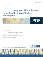 Protocol Hybridization Capture of Dna Libraries Using Xgen Lockdown Probes and Reagents Version 3