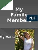 PRESENTACION DE LA FAMILIA INGLES