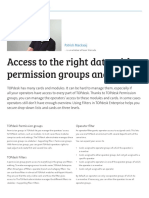 Access to the Right Data With Permission Groups and Filters