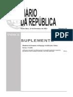 Princípios Orientadores Da Organização e Da Gestão Dos Currículos Portaria N.º 74 A2013 de 15 de Fevereiro