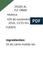 Albondigas Al Chipotle Omar