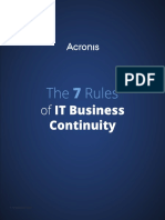 WP 7 Rules of DisasterRecovery en-US