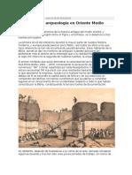 Historia de La Arqueología en Oriente Medio