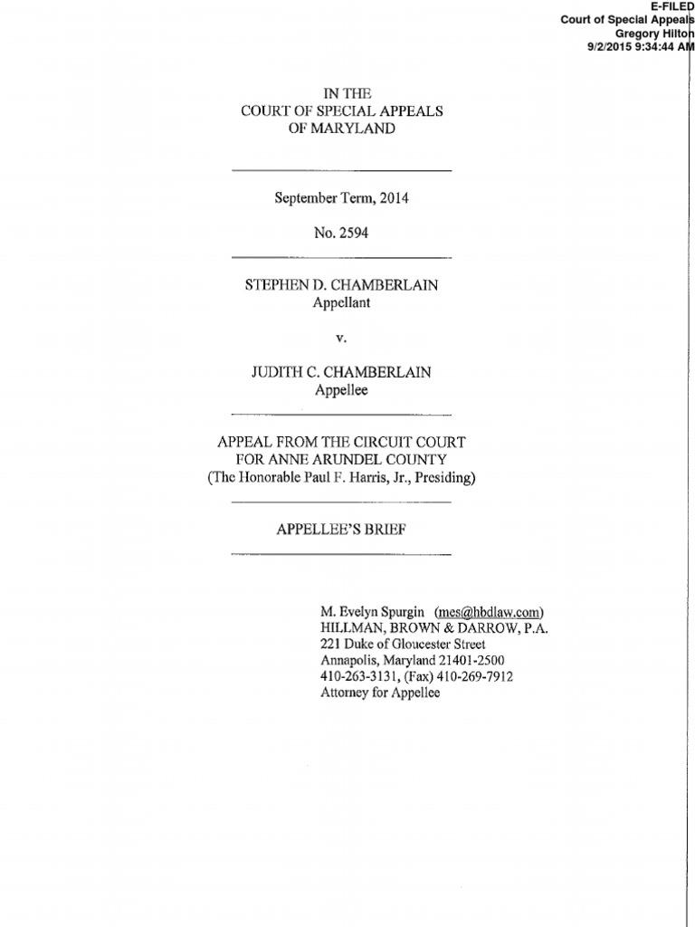 Appellees Brief 2594 Sept Term 2014