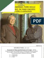 Booklet Ravel Valses nobles et sentimentales