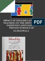 Impact of English Language Teaching on Identity