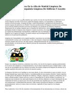 Empresa De Limpieza En la villa de Madrid Limpieza De Oficinas la capital española Limpieza De Edificios Y Locales De