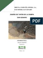 Informe Diseño Tapon Rampa San Genaro Final (SVS)