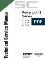 Qsc Powerlight3 Pl325 Pl340 Pl380