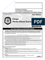 CESPE - PCPB - 2008 - Perito Químico-Legal