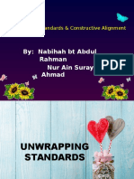 Unwrapping Standards & Constructive Alignment