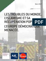 LES TROUBLES DU MONDE, L'ISLAMISME ET SA RÉCUPÉRATION POPULISTE