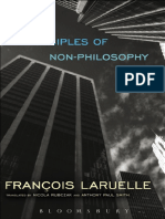 François Laruelle - Principles of Non-Philosophy