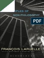 François Laruelle - Principles of Non-Philosophy